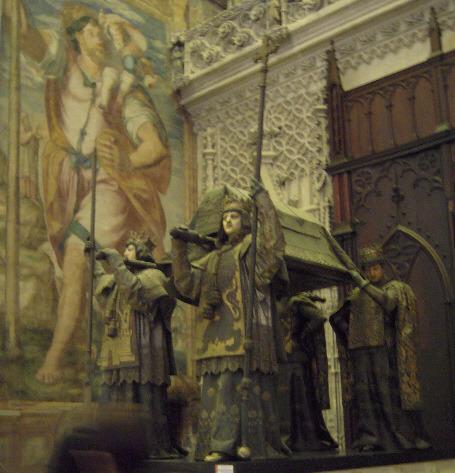 세비야 성당의 콜럼버스의 관