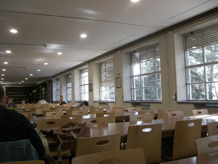 마드리드 국립대학교 도서관 열람실