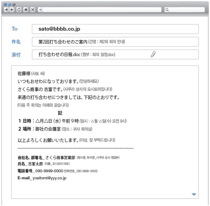 비즈니스 이메일 포맷